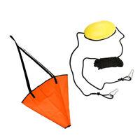 "32"" PVC Sea Anchor Drogue Drift Sock for 20' Boat Yacht + 30' Kayak Tow Rope"
