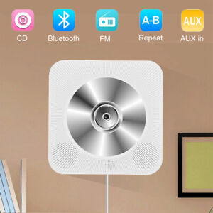 Wall Mounted Bluetooth 4.2 CD Player USB 3.5mm AUX in FM with Remote Control