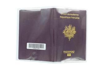 Porta Passaporto Custodia Cover Protezione Copertura IN Plastica 2 Per Nuovo