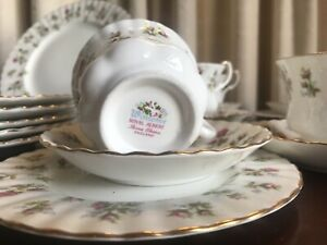Royal Albert English bone china collection, dinner and tea sets, mint condition