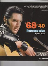 Elvis Presley 68 at 40 Retrospective Soft Cover Book by Steve Binder
