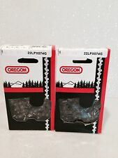 """2 Pack Oregon 22LPX074G Chainsaw Chain 18"""" .325 .063 74 DL 26RS"""