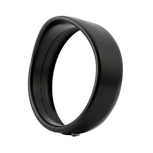 """Black Headlight Bezel Trim Ring Protect Guard Cover Cap 5 3/4"""" Inch for Harley"""