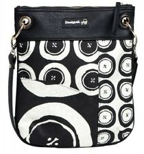 DESIGUAL Bolso Bandolera Black and White - Bag - Sac - New