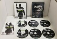 Call of Duty PC Game Lot Of 2 COD MW3 Modern Warfare 3 & Ghosts CLEAN DISCS VGC