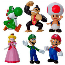 6pcs Super Mario Bros Game Action Figure Cake Toppers Doll Set Kids Boy Girl Toy