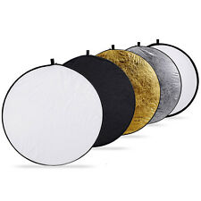 5-in-1 Photography Studio Multi Photo Disc Collapsible Light Reflector 110cm 43""