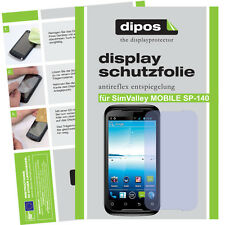 2x SimValley Mobile SP-140 Schutzfolie matt Displayschutzfolie Antireflex