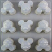 Mickey Mouse Plastic Treat Mold 9 Cavities - NEW