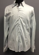 SEVEN DIAMONDS Men's Light Blue Collared Button Front Dress Shirt Sz XXL DD6706