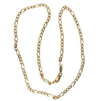 a lovely 9ct Yellow Gold Italian Ladies link Necklace of a Length 17.75 inches