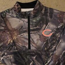 CHICAGO BEARS 1/4 ZIP CAMOUFLAGE THERMABASE PULLOVER BY MAJESTIC $65 VALUE