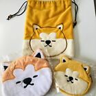 [Set of 3]Akita Inu Shiba Inu Dog Cosmetic Pouches Cases New