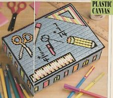 Plastic Canvas Pattern ~ School Box for Pencils, Crayons & Markers ~Instructions