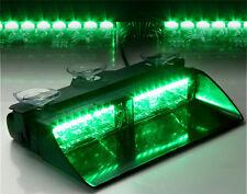 16 LED Green Vehicle Car Boats Safety Beacons Lights Bar Strobe Lamp DC 12V