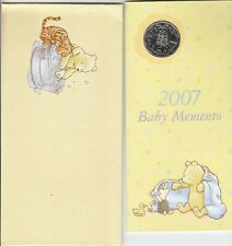 Coin 2007 Australia 50c C of A in Baby Memento folder & cover, uncommon