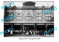 OLD 6 x 4 PHOTO KEMPSEY NSW SAVAGE GENERAL STORE c1930