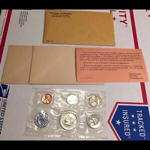 RARE org 1964 SILVER US Proof Set Kennedy with Type 1 reverse Variety FREE SHIP