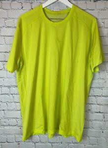 LULULEMON Mens' Metal Vent Tech Short Sleeve Neon Yellow/Green Shirt Size XXL