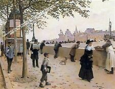 On The Banks Of The Seine by Jean Beraud Artwork by Selby Prints