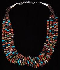 Native American Handmade 5 Strand Multi-Stone Bead Necklace