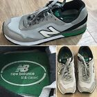 Retro NEW BALANCE 515 Mens ML51GGB Classics Suede/Mesh Shoes GRAY/GREEN Size 8D