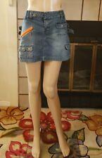 NWT Decoded Blue Denim Jean Mini Skirt Size 9 Pockets