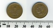 Pakistan 1999 - 1 Rupee Bronze Coin - Head of Jinnah facing left