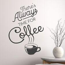 Café siempre tiempo para Pared Adhesivo Decoración Vinilo Calcomanía Arte Pub Café Mual Gráfico