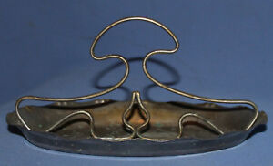 Antique silver plated bowl boat