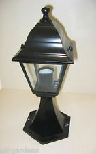Garden Lighting Victorian Post Top Light Black Aluminium Outdoor Lights Lanterns