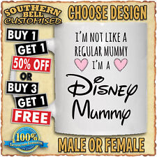 DISNEY MUMMY MUG Christmas Birthday Fathers Mothers Day Valentines Gift Mum Cup