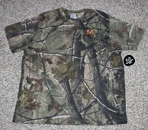 New REALTREE AP Camo Men's T-Shirt Size 2XL Short Sleeve Shirt Hunting