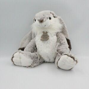 Doudou Peluche lapin marron blanc HISTOIRE D'OURS 30 cm - Lapin Classique