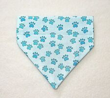 BLUE PAW PRINTS ON BLUE DOG SCARF--SMALL