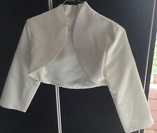 boléro robe de mariée blanc taille XS 34