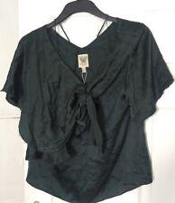 New Kloset Red Carpet Size 10 Green Top Shirt Blouse Knot Tunic BNWT