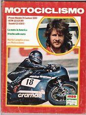 MOTOCICLISMO - SETTEMBRE 1980 - HONDA CX CUSTOM 500 - KTM GS 125 RV - SUZUKI GS