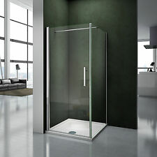 100x80x195cm Porte pivotante porte de douche paroi de douche cabine de douche av