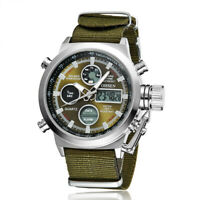 OHSEN Men Watches Military Digital Quartz Watch Fashion Nylon Canvas Wristwatch