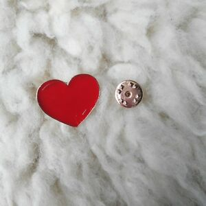 Red Heart Love Romantic Enamel Pin Button Badge Lapel