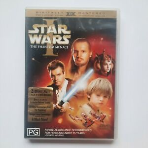 Star Wars Episode I: The Phantom Menace DVD 2-Disc - Free Postage - Region 4