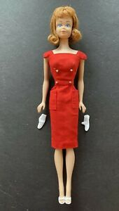 1964 Midge Barbie Doll #860 Red Hair Blue Eyes Freckles #986 Sheath Sensation