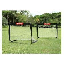 Soccer Foldable Portable Goal Up Pop Goals Net Bag New Pair Training Two Carry 2