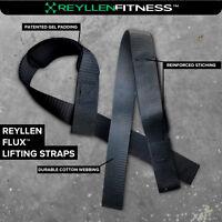 Reyllen™ UK Gel Padded Single Loop Weight Lifting Straps for CrossFit Training