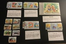 Bhutan Walt Disney Lot Of 20 Postal Stamps Jungle Book Donald Caballeros 80's