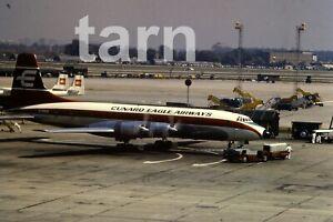 35mm slide aeroplane airplane London  Heathrow  Cunard Eagle 1960s r199