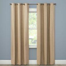 "Set Of 4   Eclipse Windsor Light Blocking Curtain Panels - Mushroom 42""x84"" NEW"