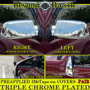 1994-2000 Chevy C/K 2500, 3500, Tahoe Yukon  Chrome Mirror Covers Overlays Trims