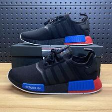 Adidas NMD R1 Core Black Lush Red Blue Triple Boost FX4355 Mens Size 9